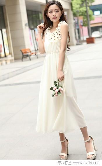 寸长尺短,连衣裙优雅清凉蜕变