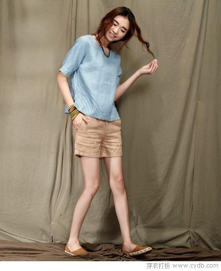 给短裤短裙找点搭配款式