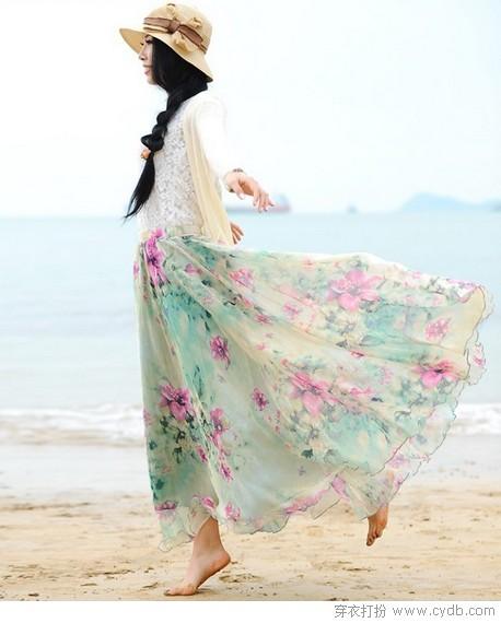 半身长裙拯救腿型 浪漫且飘逸
