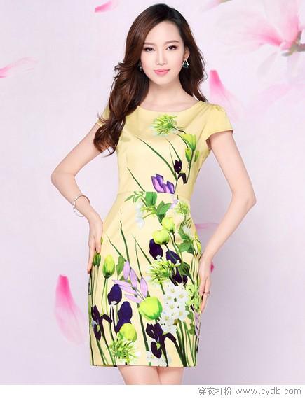 花般灿烂的大品牌连衣裙