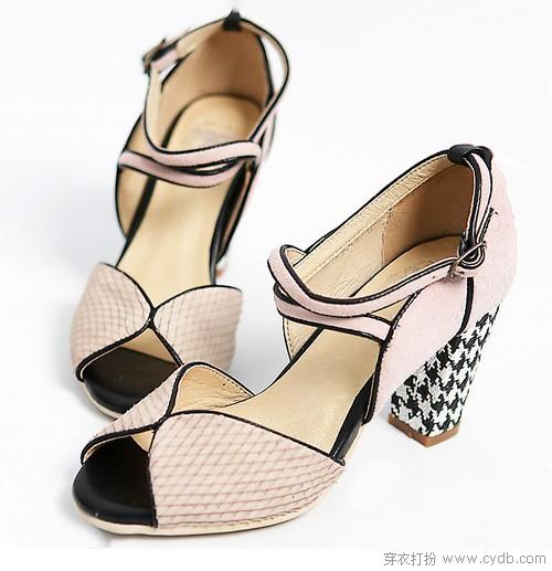 个性鞋跟彰显脚上繁华