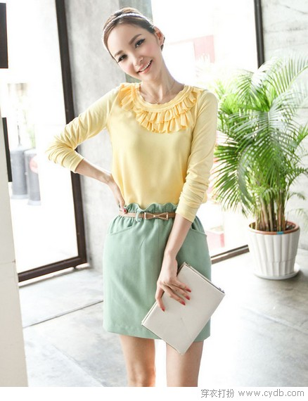 <a style='top:0px;' href=/index.php/article-tag-k-%25E8%2581%258C%25E5%259C%25BA.html target=_blank ><strong style='color:red;top:0px;'>职场</strong></a>OL时尚简约搭配