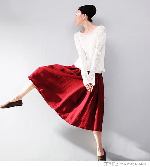 设计感半身裙 品味秋搭首选
