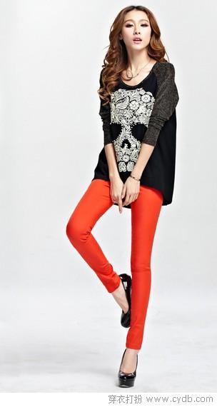 宽松衫+打底裤显瘦<a style='top:0px;' href=/article/tag/k/%25E9%25AB%2598%25E6%258C%2591.html target=_blank ><strong style='color:red;top:0px;'>高挑</strong></a>全都有