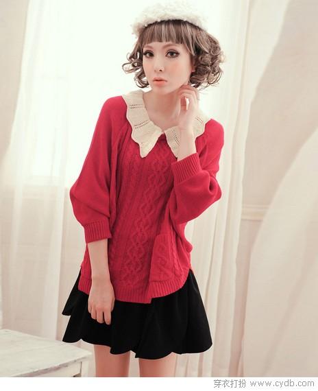 秋搭<a style='top:0px;' href=/index.php/article-tag-k-fashion.html target=_blank ><strong style='color:red;top:0px;'>fashion</strong></a>第一式:毛衣+半身裙