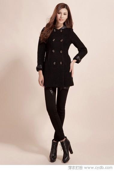 秋搭第二式:大衣+长款毛衣