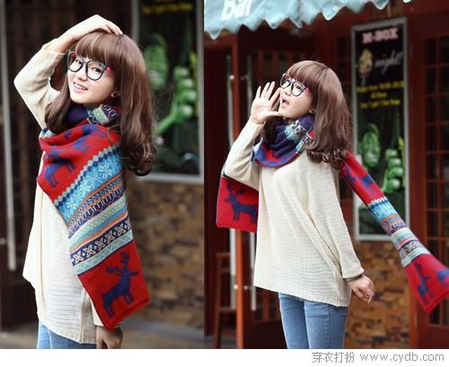秋冬围巾系法示范