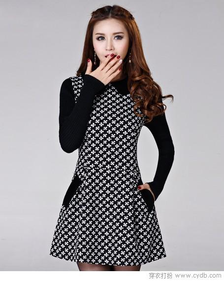 连衣裙的A字裙摆显纤腰