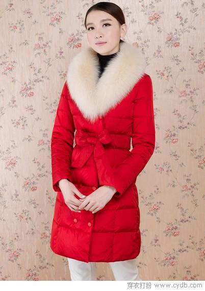 毛领+收腰,羽绒保暖时髦又窈窕