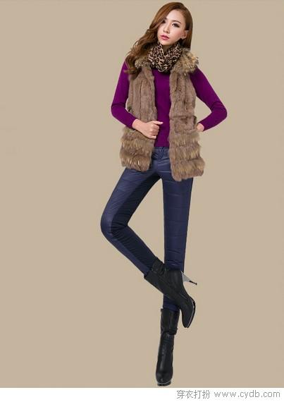 里购买--拼接加厚羽绒裤 ←-冬季女裤就该这么穿