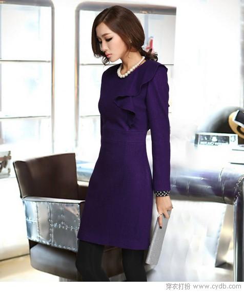 冬季紫色优雅内秀