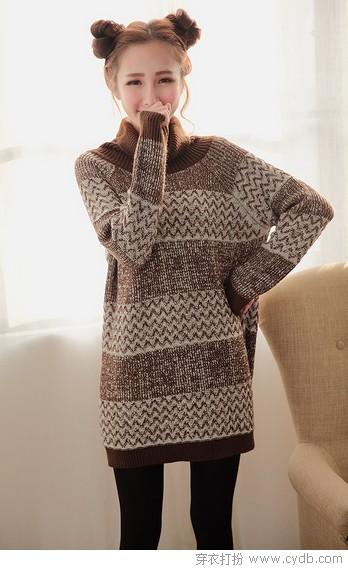 温暖巧搭轻松驾驭高领毛衣