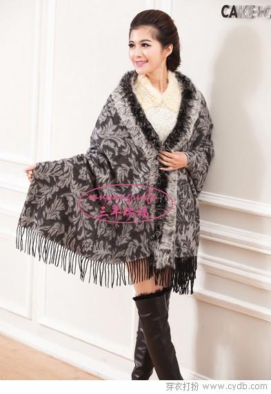 羊毛围巾的温暖