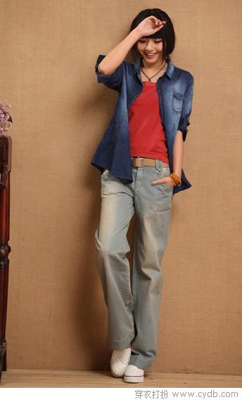 百搭直筒裤 很帅很显高