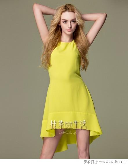 大码女孩_2012夏装韩版时尚大码女孩头像休闲抽绳连衣