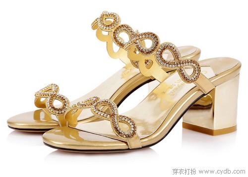 --欧美风水钻中跟凉鞋 ←-百搭凉鞋穿起来
