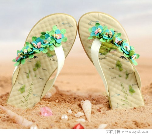 拖鞋也要美到爆