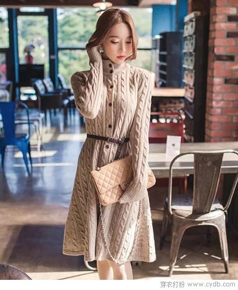 怕冷?美美毛衣裙助阵