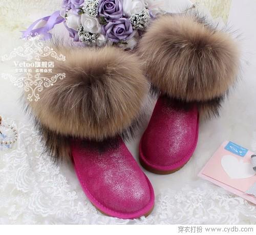 沉浸在雪地靴的梦乡里
