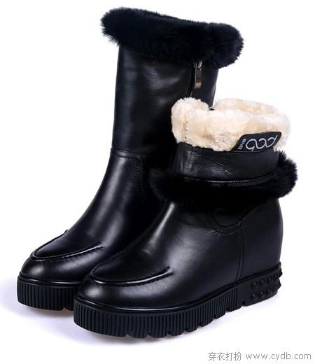 穿雪地靴的姑娘