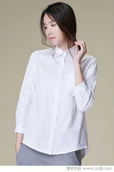 素净棉白衬衫,气质自由呼吸