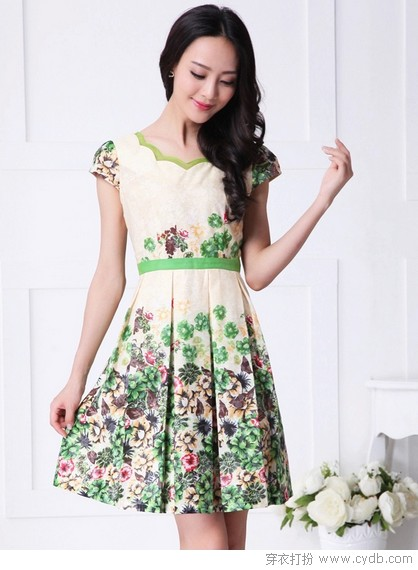 连衣裙最是深情女人味