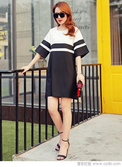 宽松裙装均衡之美