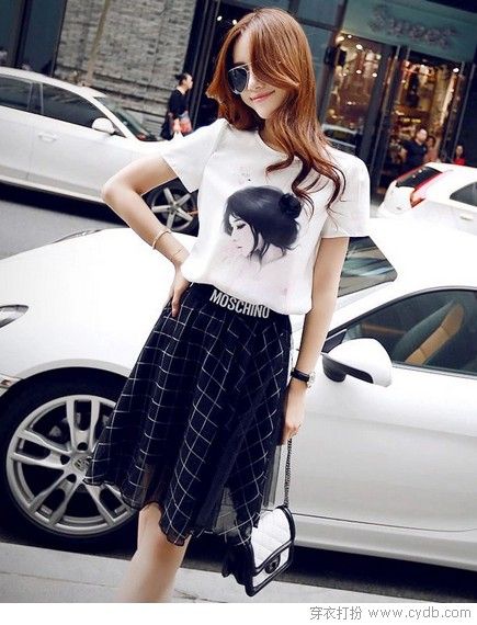★青春阳光格子裙