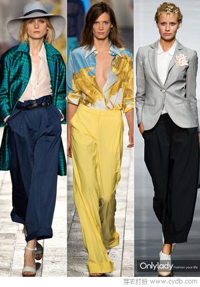 时尚必备单品之八分阔腿裤