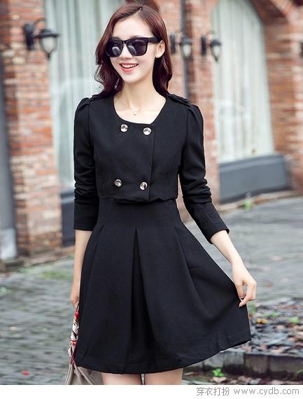 秋天必备气质黑裙