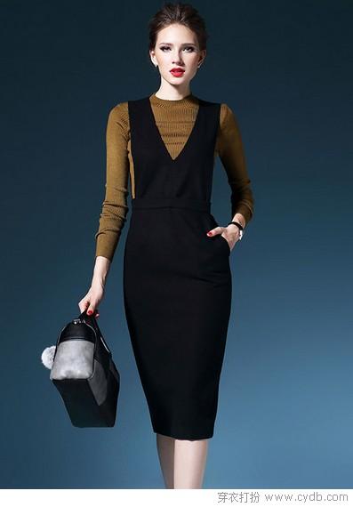 黑裙魅力不减温暖有加