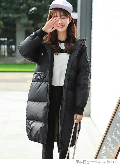 ★黑色羽绒,冬日隐形战衣