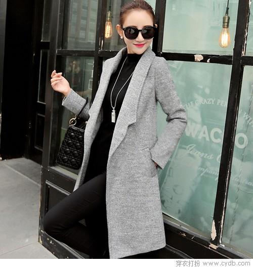选一件有质感的灰色大衣去过年