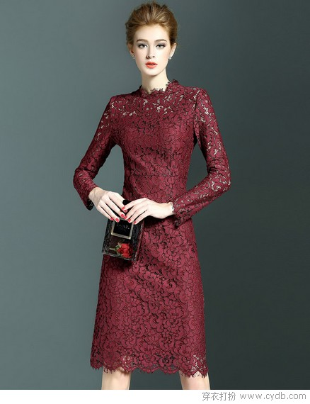 美艳红裙炼就气质暖美人