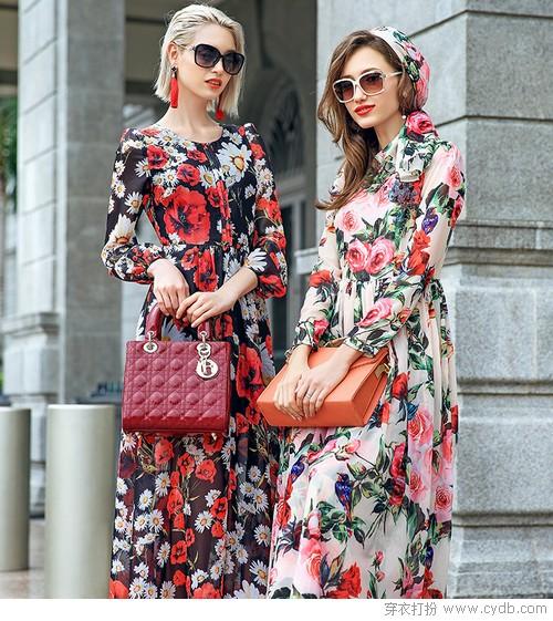 ★花开的季节,花朵裙是对春天的告白