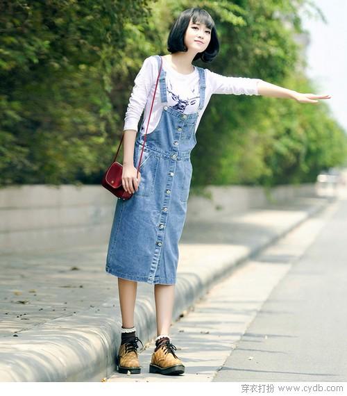 ★怎样打造换季时尚周造型?浅谈背带裙的秘密