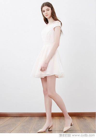 ★镂空雕琢古典美,袅袅梦幻蕾丝裙
