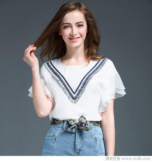 手臂粗没关系,看新款T恤如何显瘦给力