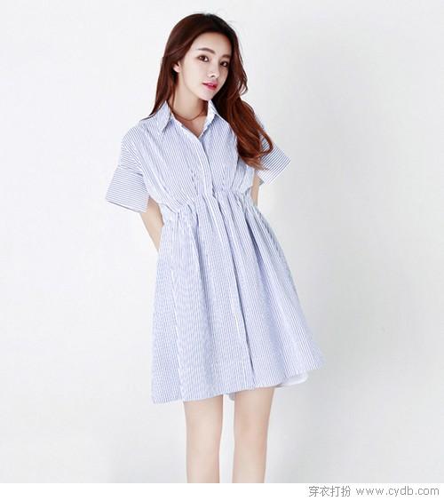 衬衫裙 穿不腻的单品竟然是它