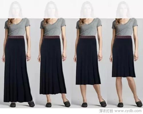 裙长定义,尺寸之间的时尚定律
