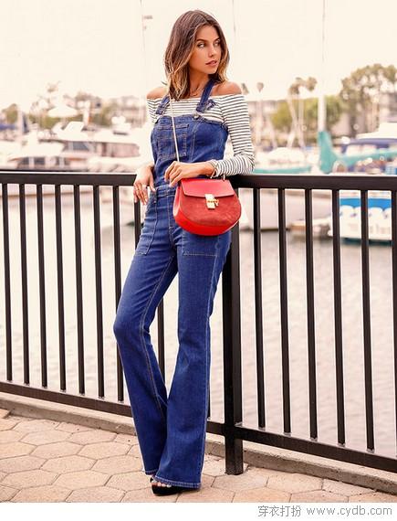 减龄修身背带裤,从夏到秋的时髦有了着落