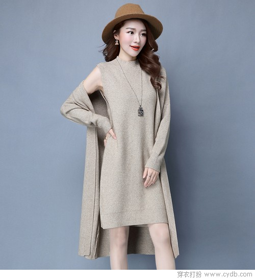 懒人的时髦,质感针织裙暖遍三季