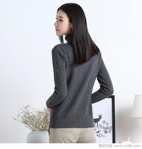 高领毛衣的范儿,走出复古情调的日常
