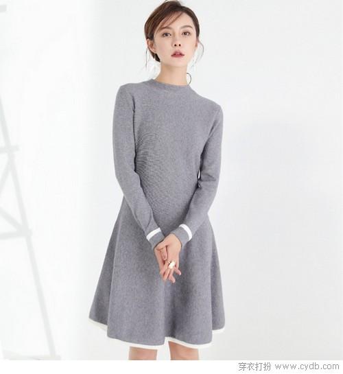 大冷天里变身时装精,衣Q全在毛衣裙
