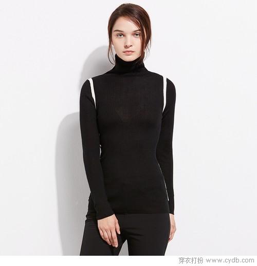 启动时尚小马达,高领毛衣轻松赢很大