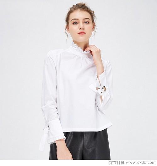 云淡风轻白衬衫美出N种姿态