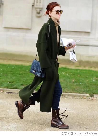 时髦的人用色抢镜,怕冷的人以绿待春