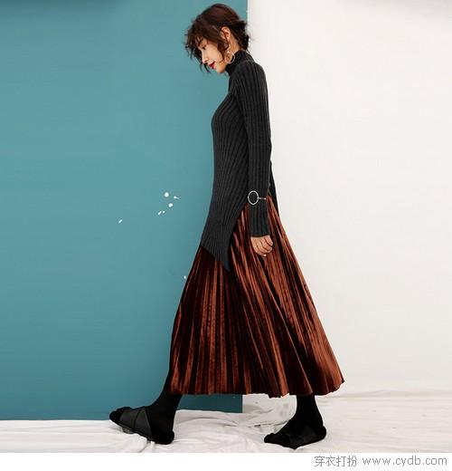 半身裙与针织衫,快速搭配美妙专享
