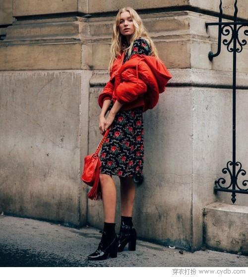 新年红色穿搭指南,时髦喜庆都要兼顾
