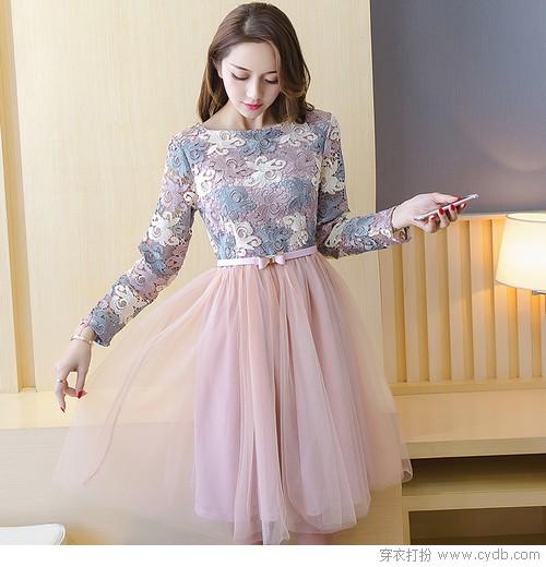 多彩春季美到飞起首选连衣裙